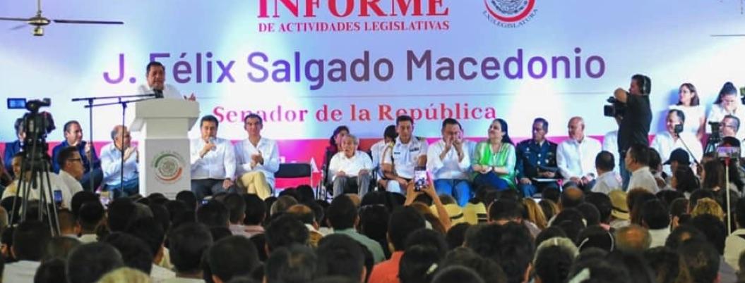 Félix Salgado da primer informe sobre sus ocurrencias como senador