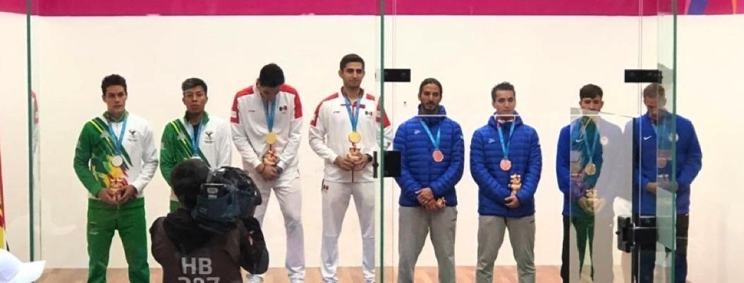 México gana su medalla 26 de oro en dobles varonil de raquetbol