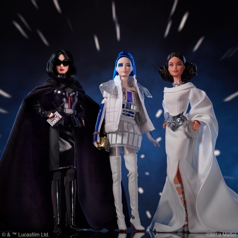 presentan a las munecas barbie inspiradas en star wars y son increibles
