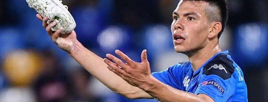 Anulan gol del Chucky Lozano con el Napoli en la Champions