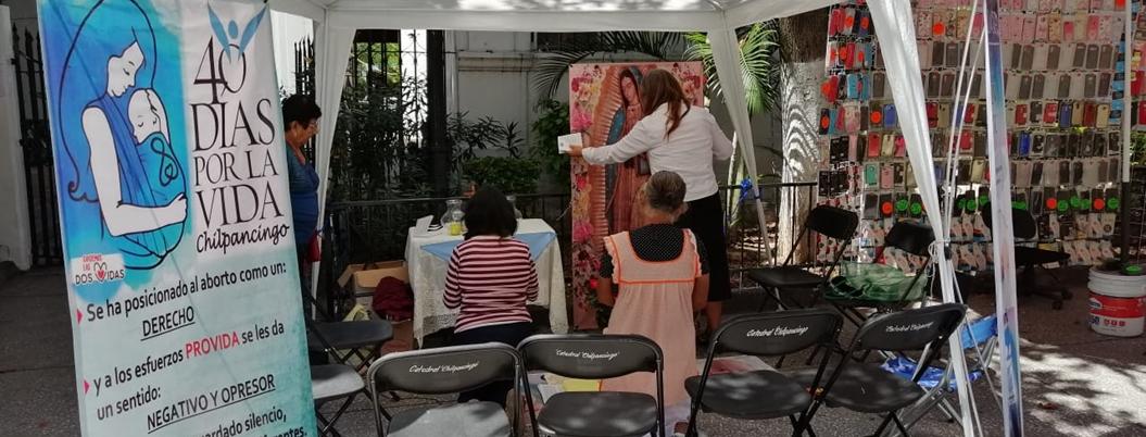 Católicos y provida inician oraciones contra aborto legal en Chilpancingo