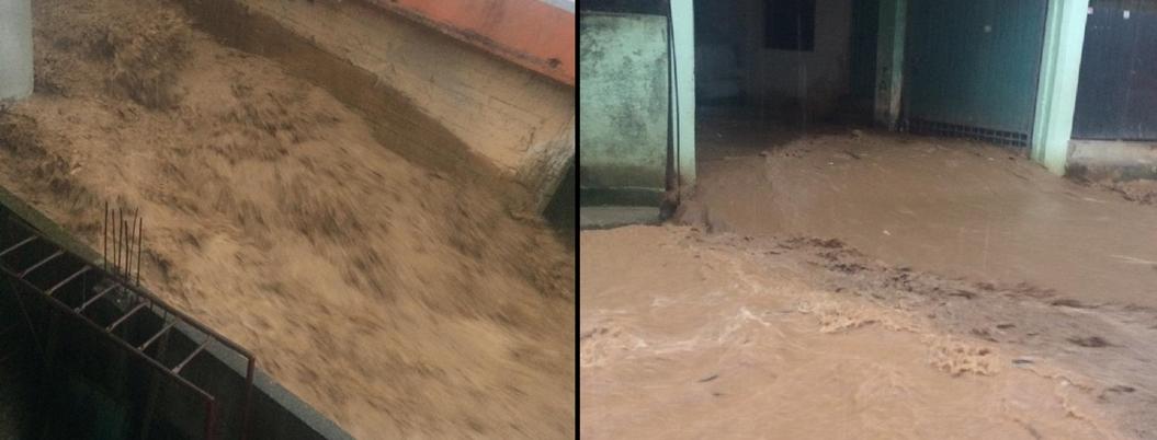 Río se desborda por las lluvias en El Paraíso, Atoyac
