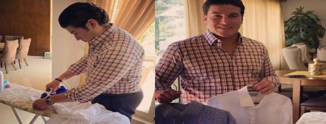 Senador fifí presume que ya aprendió a planchar sus camisas; ¡aplauso!