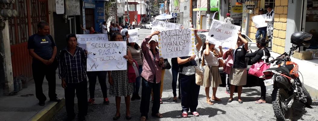 Denuncian falta de maestro en secundaria de Tolixtlahuaca, Chilpancingo