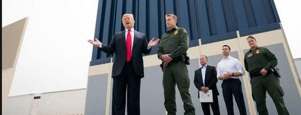 Trump: 800 kilómetros de muro fronterizo estarán listos en 2020