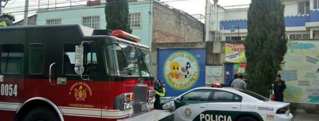 Fuga de gas en un kínder de la CDMX deja 5 niños intoxicados