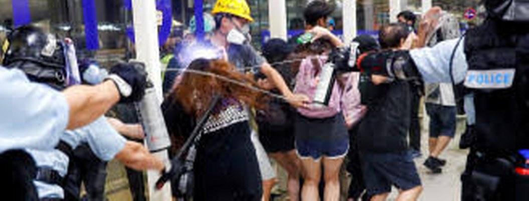 Policía de Hong Kong blinda el aeropuerto ante protestas