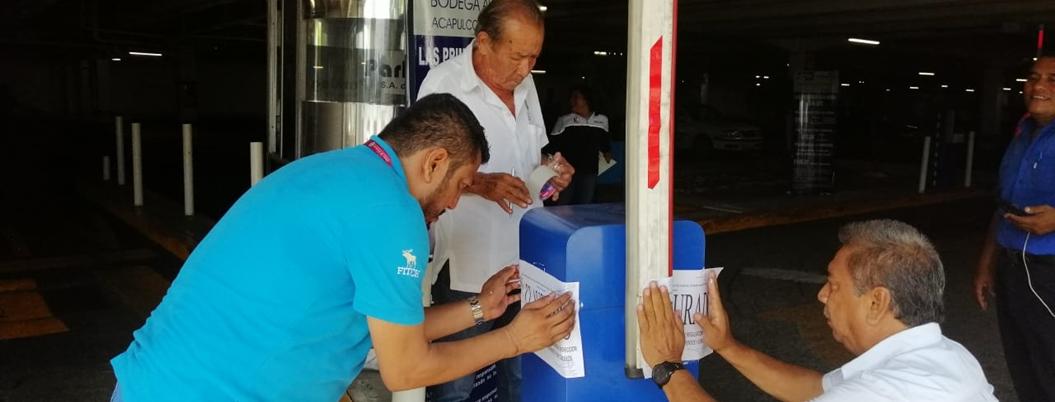 Ayuntamiento sanciona a 3 estacionamientos por violar la ley en Acapulco