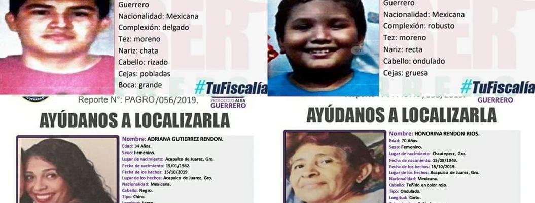 Secuestran a 5 integrantes de familia en Acapulco