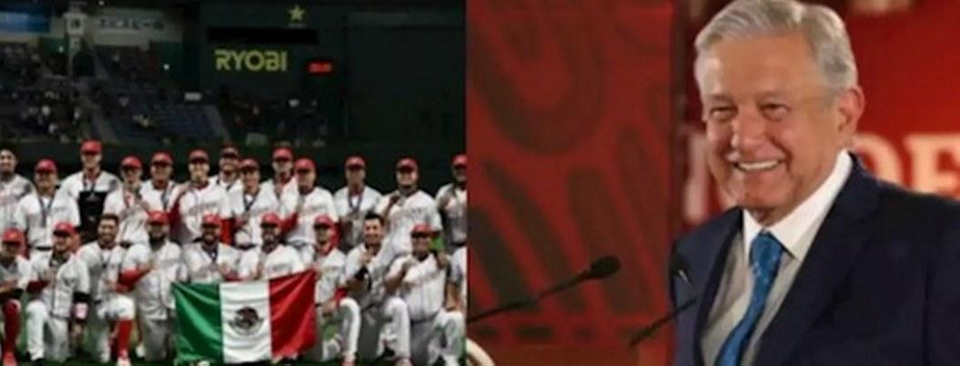 AMLO felicita a Selección Mexicana de Beisbol por pase a Tokio