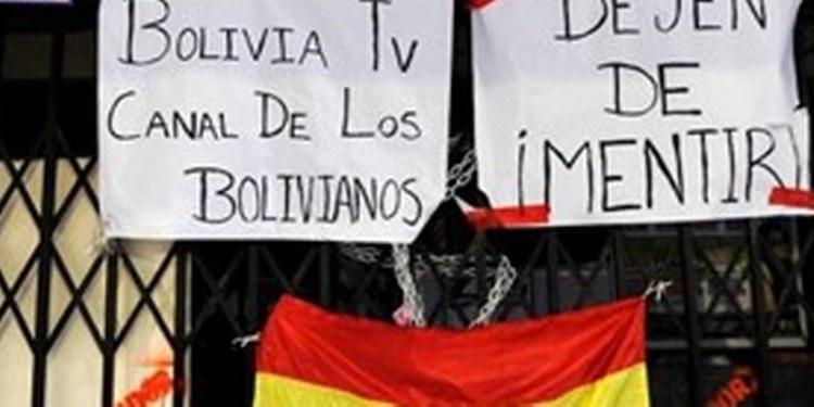 atacan a los medios en Bolivia