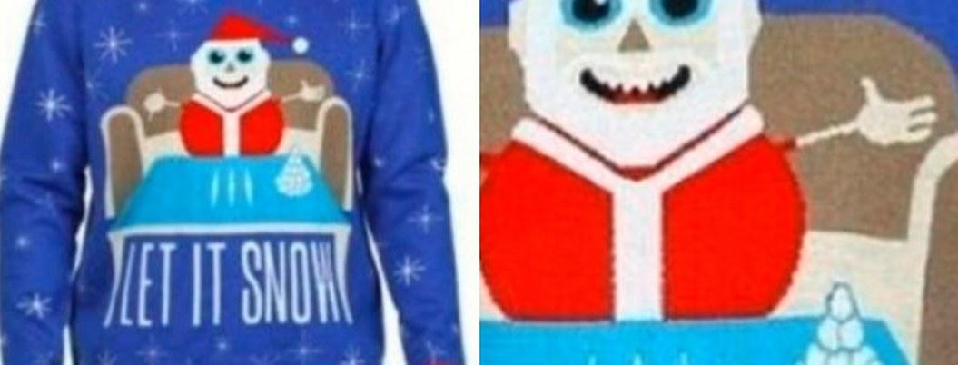 Tras quejas, retiran suéter de Santa consumiendo cocaína