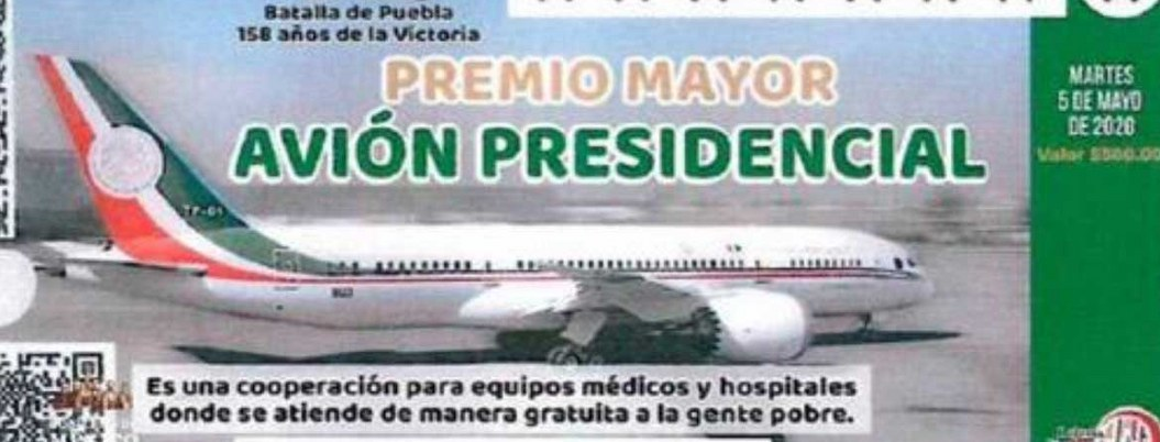 """Llama AMLO a comprar """"cachitos"""" para rifa de avión presidencial"""