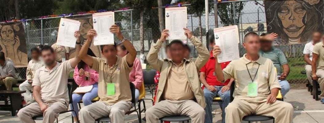 Estudian el 60% de los presos en la CDMX