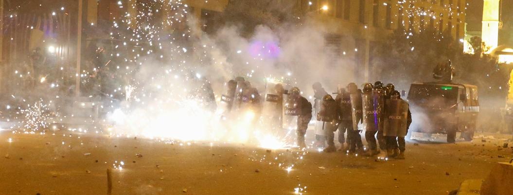 Protestas dejan a 75 manifestantes heridos en Líbano