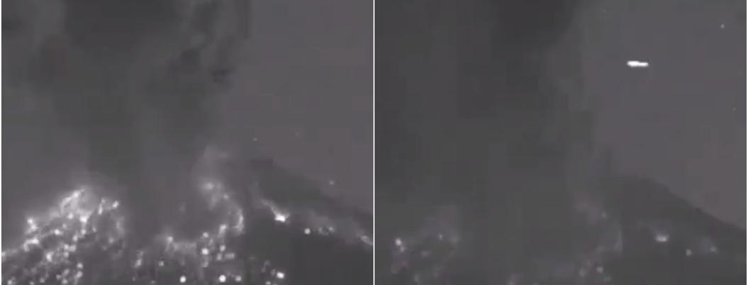 Video de explosión del Popo capta paso de ovni; las redes especulan
