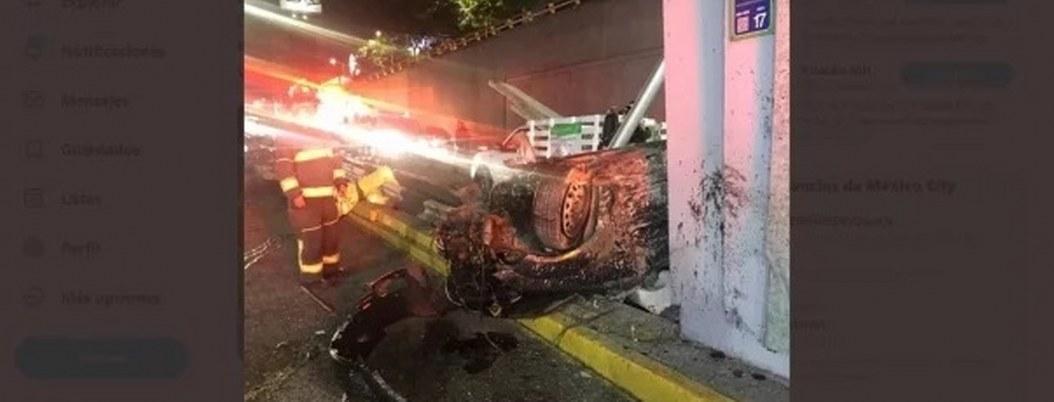 Fallecen dos personas en volcadura en la CDMX