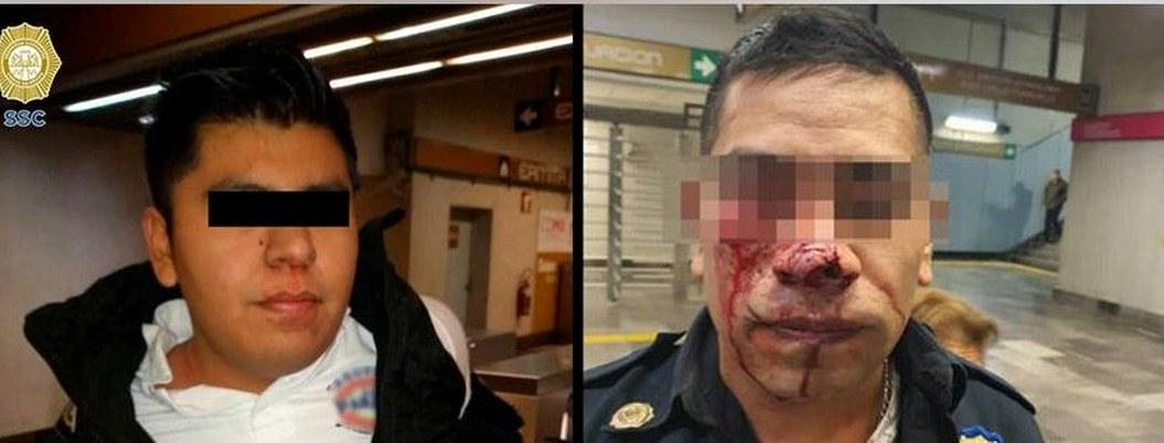 Joven caníbal golpea y muerde a policía en el Metro de la CDMX