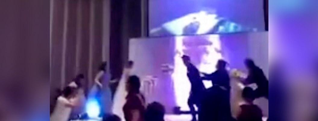 Recién casado exhibe video de infidelidad de la novia en plena boda