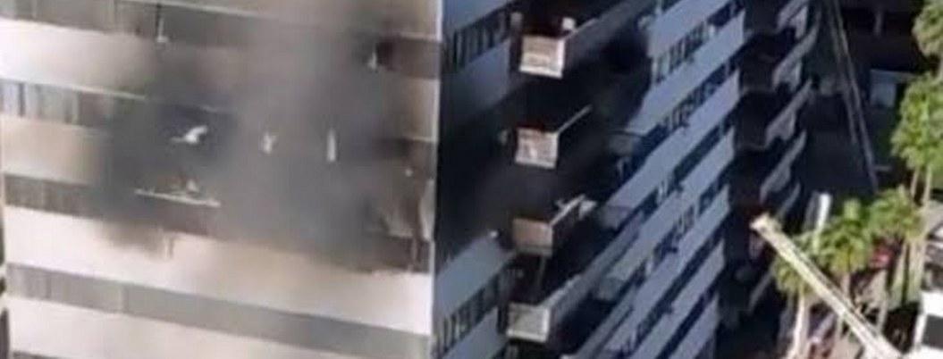 Incendio en rascacielos de Los Ángeles deja un bebé herido