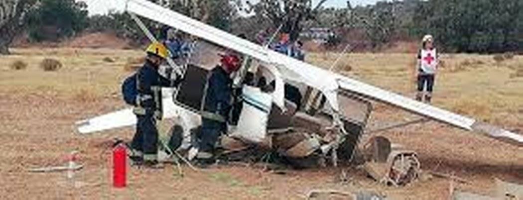 Se desploma avioneta en Pachuca, Hidalgo