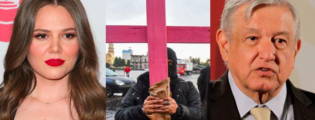 """Joy Huerta: """"cuidan más a monumentos que a mujeres""""; critica a AMLO"""