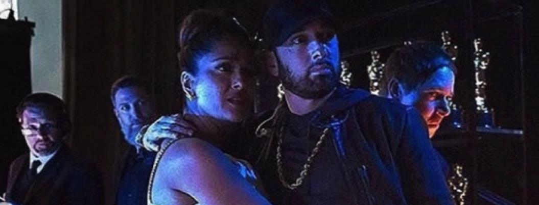 Salma presume foto con Eminem y cuenta cómo se conocieron