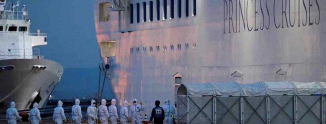 Reportan 8 personas graves por Covid-19 en crucero anclado en Japón