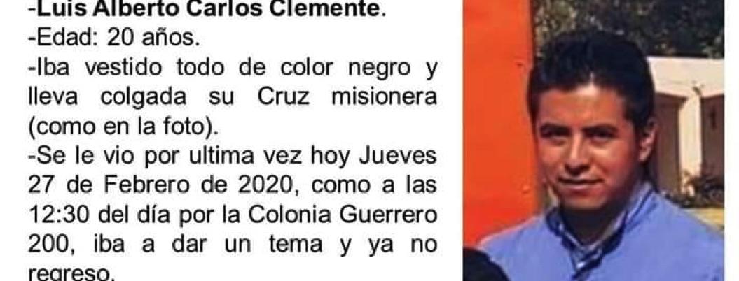 Reportan desaparición de misionero católico en Chilpancingo