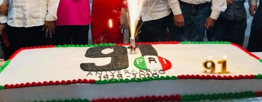 PRI Guerrero celebra 91 años; promete recuperarse en 2021