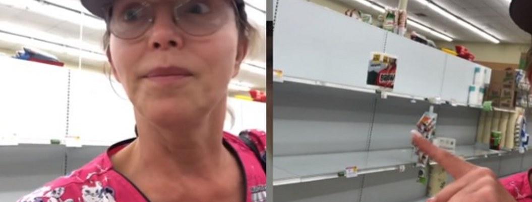Compras de pánico dejan sin papel higiénico a Laura Flores