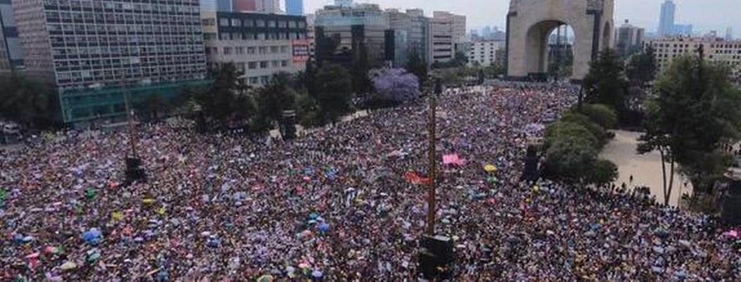 Gobierno de la CDMX reporta 80 mil personas en megamarcha del 8M