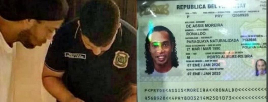 Ronaldinho fue detenido en Paraguay con pasaporte falso
