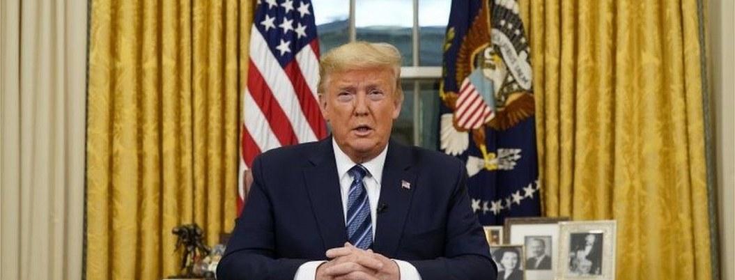 Trump extendería 30 días restricción de entrada a europeos