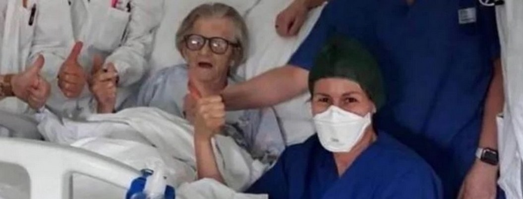Anciana de 95 años se libra de coronavirus en Italia
