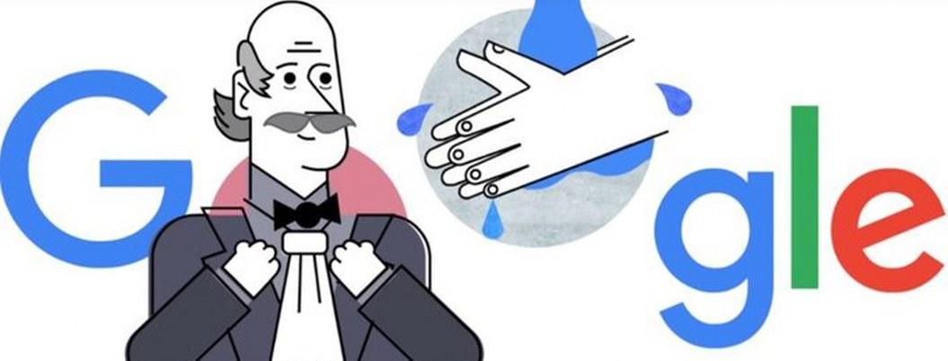 Doodle recuerda al padre del control de infecciones