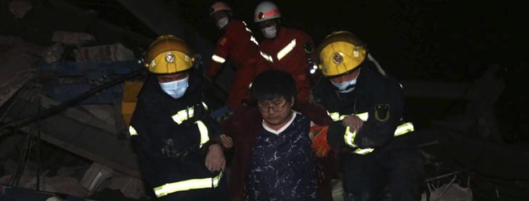 China: se derrumba hotel de cuarentena de covid-19, hay 10 muertos