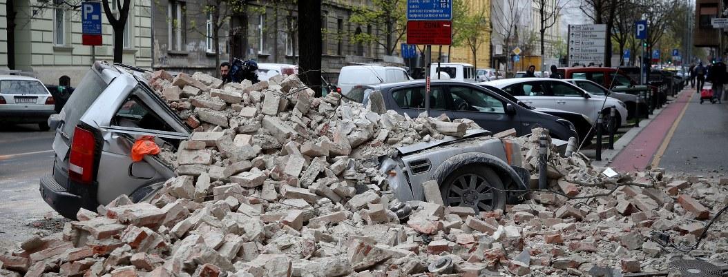 Sismo de magnitud 5,3 en Zagreb deja daños materiales