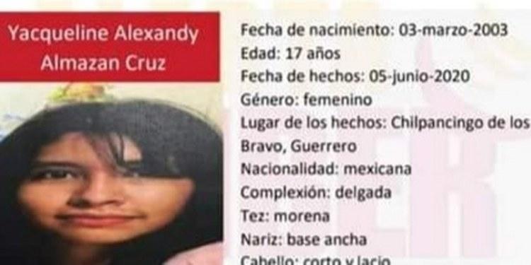 Chilpancingo: piden ayuda para hallar a adolescente; Fiscalía sin resultados 1