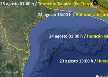 """Tormenta tropical """"Marco"""" se convertirá en huracán categoría I este domingo 1"""
