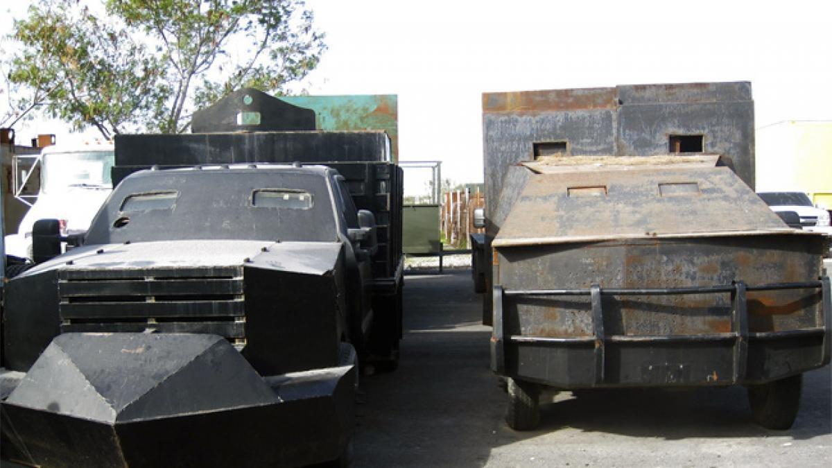 """Incautan 6 """"monstruos"""", vehículos con blindaje artesanal utlizados por el  narco en Tamaulipas – Bajo Palabra"""