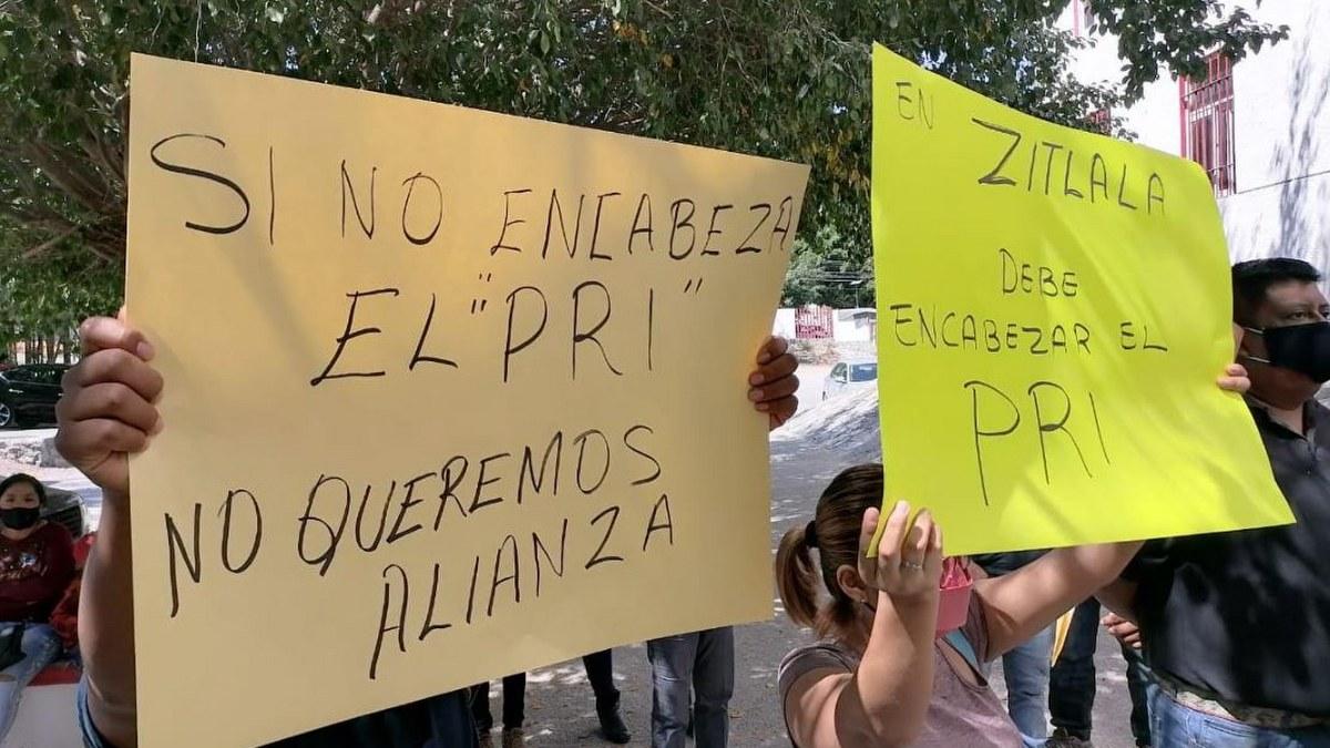 En Zitlala, piden que el candidato de la alizan PRI-PRD sea del tricolor 1