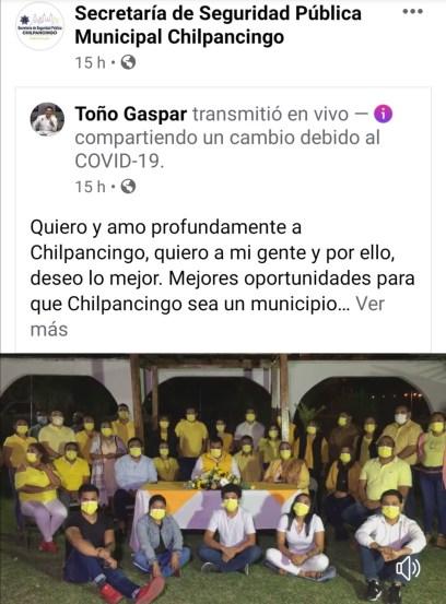 """Antonio Gaspar utiliza las redes del municipio para presumir """"sus logros"""" 1"""