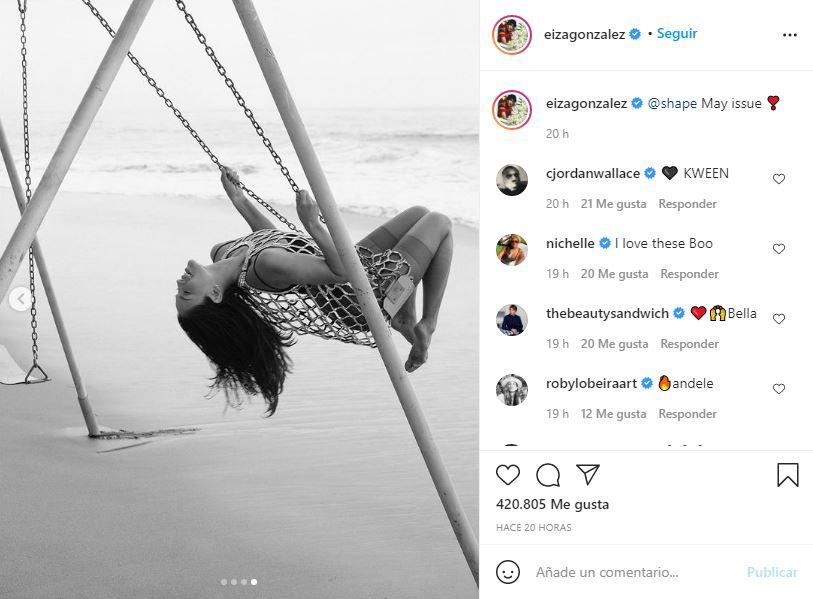 ¡Que calor! Eiza González seduce desde la playa   FOTOS 2