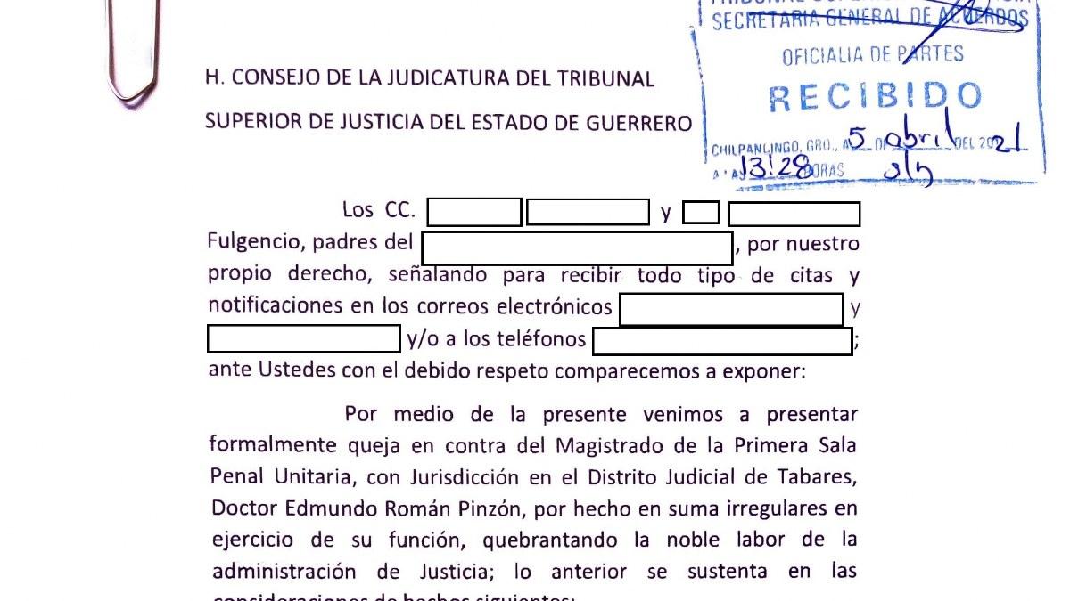 Fiscalía de Guerrero deja libre a Félix pero se ensaña con otros acusados; denuncian a magistrado 2