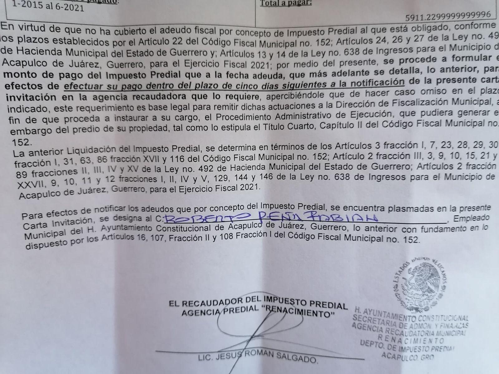 Alcaldesa de Morena en Acapulco amenaza con embargar predios que adeuden predial 1