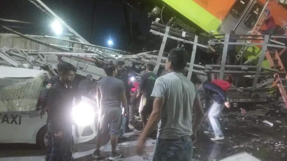 """Se desploma """"ballena"""" y tren del metro Olivos de la Línea 12 Dorada; hay muertos y heridos 1"""