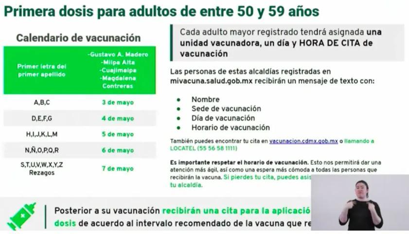 CDMX inicia jornada de vacunación a adultos de 50 a 59 años 1