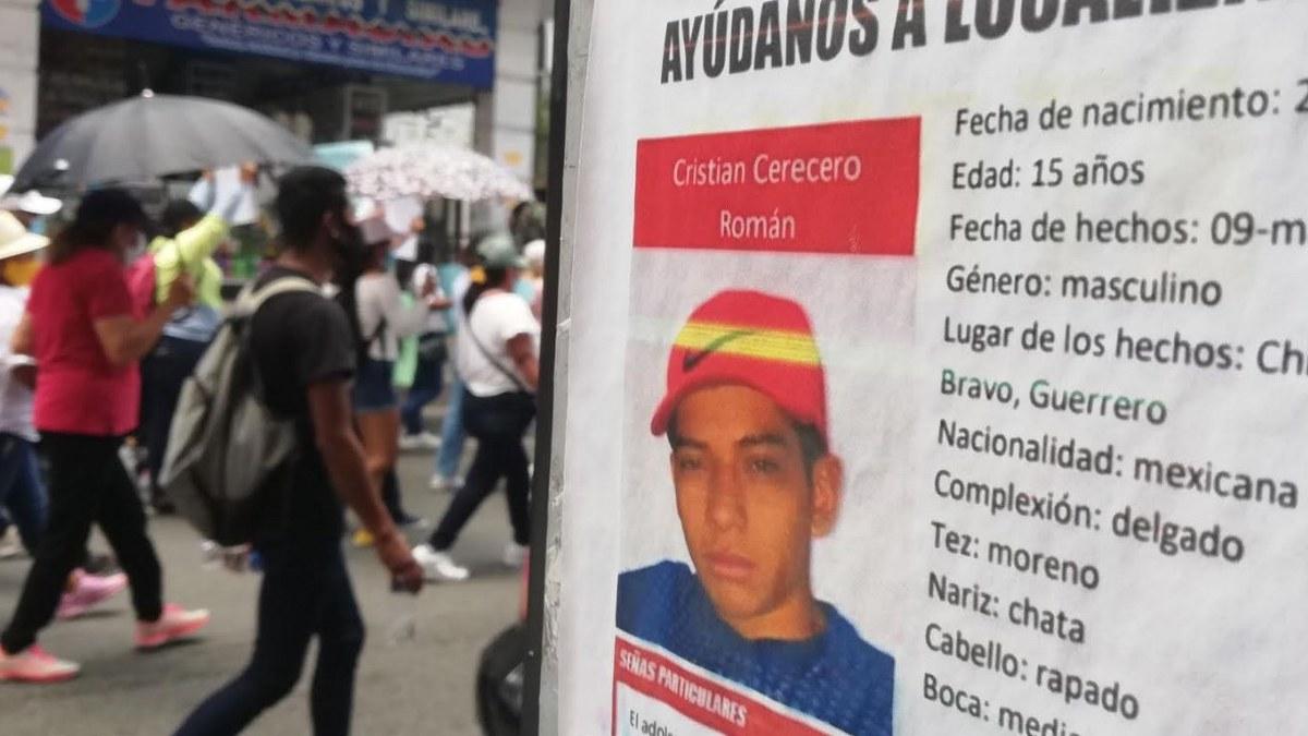 Familiares y amigos de menor desaparecido marchan en Chilpancingo 1
