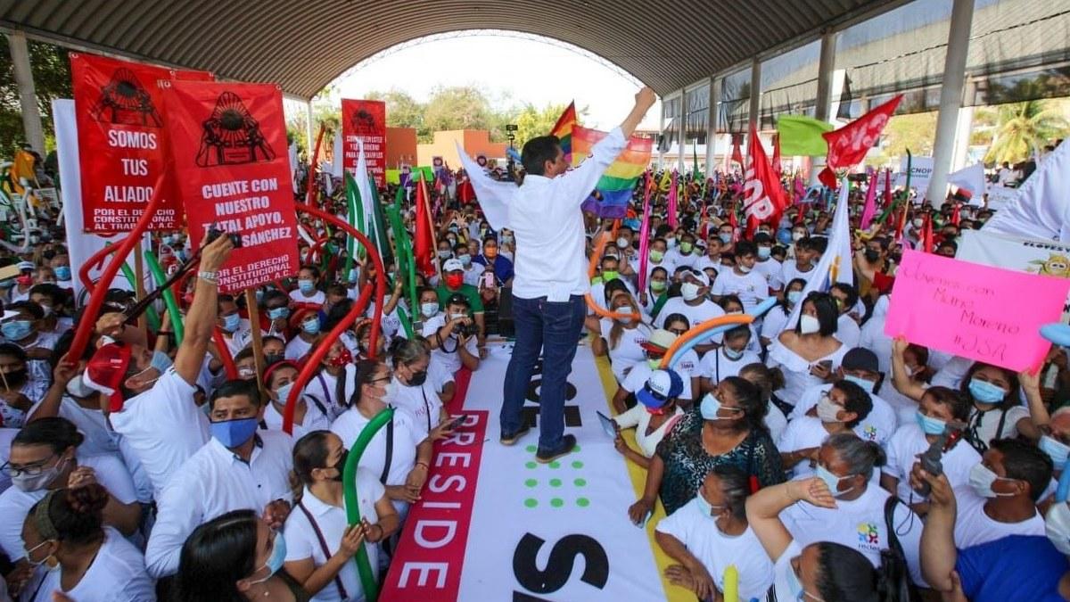 Morena se derrumba en Guerrero; cae 11 puntos; hay empate técnico con PRI-PRD 1